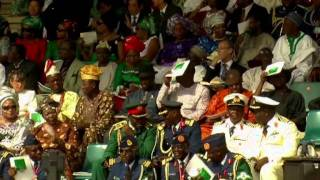 Nigerian leader Goodluck Jonathan sworn in