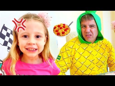 Nastya và bố hoán đổi vị trí cho nhau! Video giáo dục trẻ