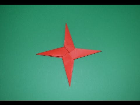 How to make a paper ninja star origami оригами ниндзя звезда