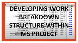 Video Creating Work Breakdown Structure in MS Project download MP3, 3GP, MP4, WEBM, AVI, FLV Agustus 2018