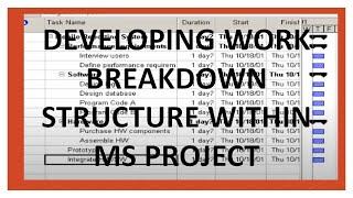 comment construire wbs