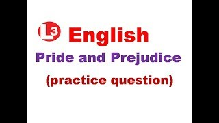Samvida English literature ( objective question ) pride and prejudice