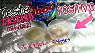 TESTE CASEIRO POSITIVO (Água Sanitária)