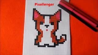 Как нарисовать  по клеточкам в тетради Собаку - Щенка Корги Пиксель Арт #Корги, #Corgi