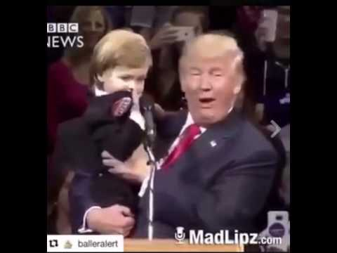 Baby tells Donald Trump to