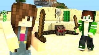 Minecraft Survival - DESAFIO NO DESERTO COM PAPIS #17
