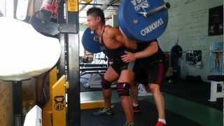 Martin Nguyen squats 225kg x 3/PTC