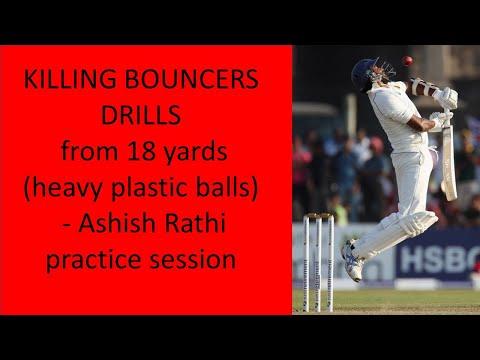 KILLING BOUNCERS From 18 Yards (heavy Plastic Balls) - Ashish Rathi Practice Session
