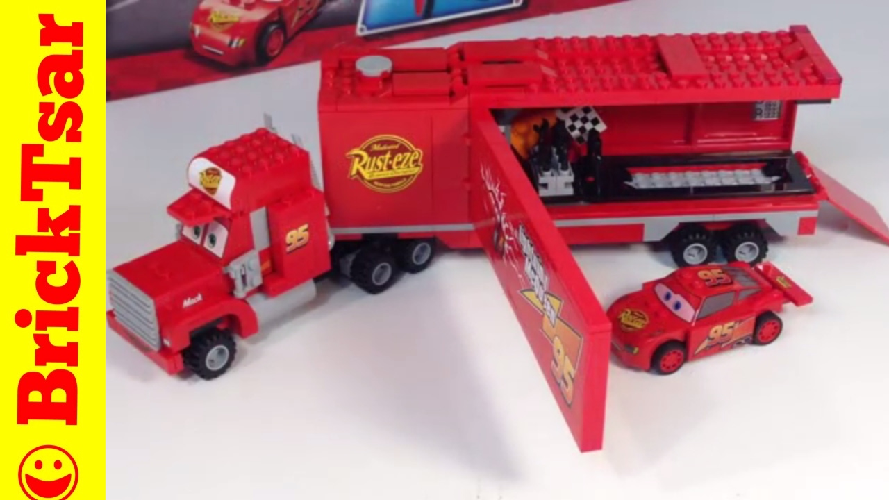 Smuk LEGO CARS 2 Mack's Team Truck set 8486 with Lightning McQueen MI-82