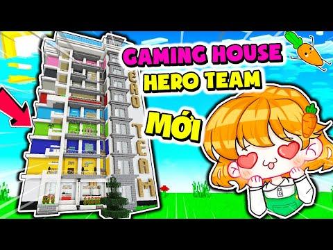 Hero Team có GAMING HOUSE MỚI   Kamui Trang Trí Phòng Mới Màu Xanh trong Minecraft
