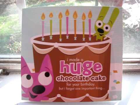 Hoops Amp Yoyo Chocolate Cake Card Youtube