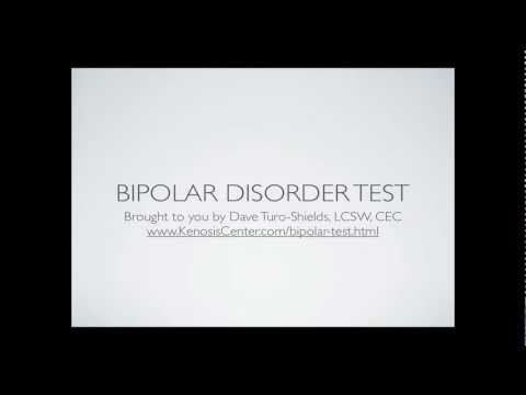 Bipolar Disorder Test