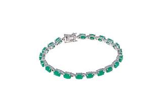 Colleen Lopez Oval Emerald Line Bracelet thumbnail