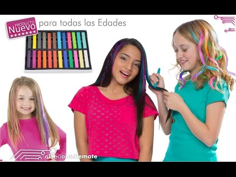 34e0989ed Tizas para el Cabello Tinte Temporal de Color Hair Chalk Mechas -  aPreciosdeRemate