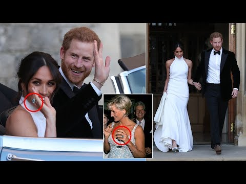 Duchess Meghan wears Diana's aquamarine ring with Stella dress for evening reception