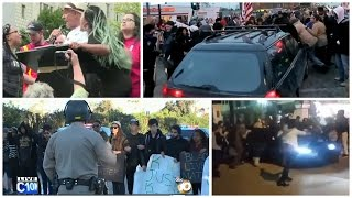 PROTESTERS RAN OVER FOR BLOCKING THE STREETS...Skip to 3:50 for the action