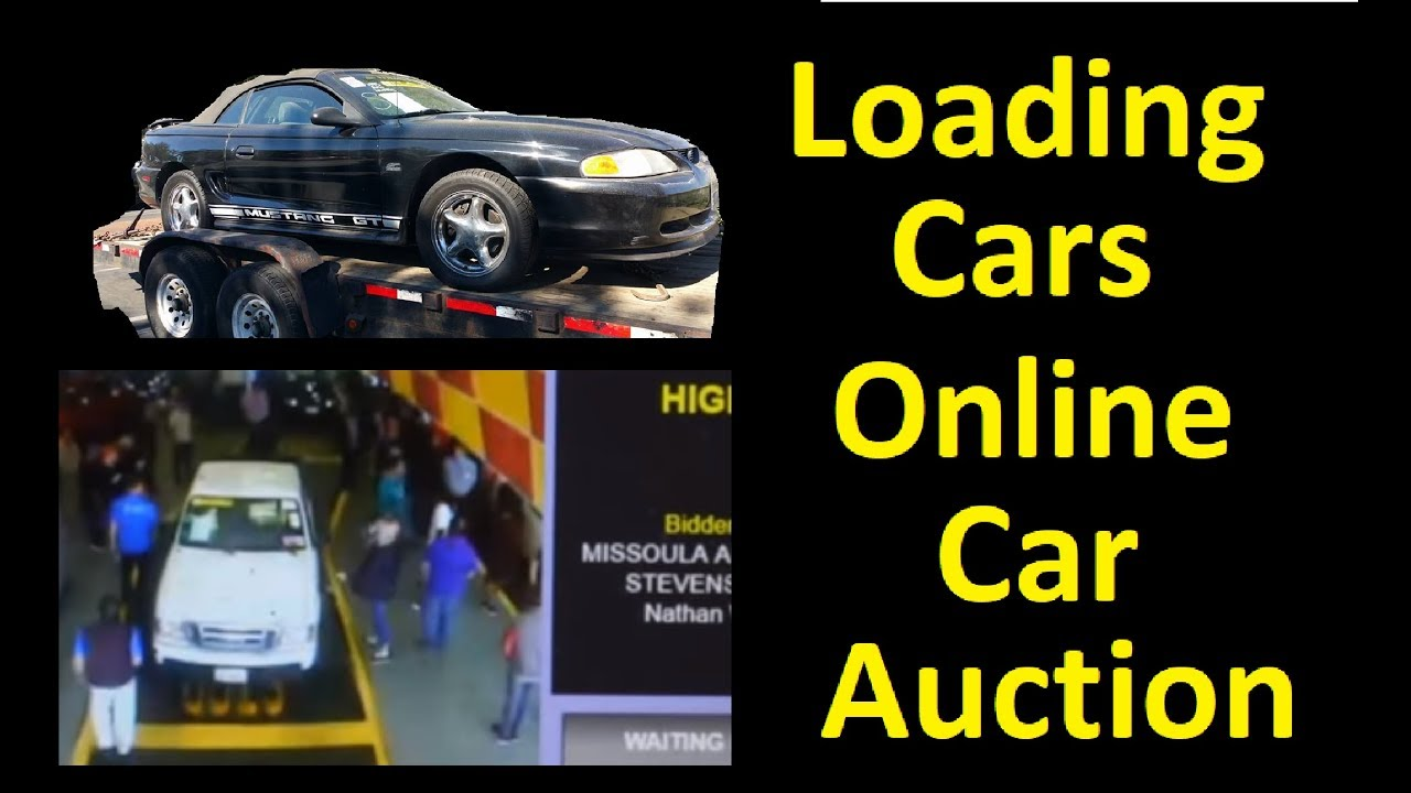 Online Auto Auction Bidding Car Hauling Loading A Cars On Trailer