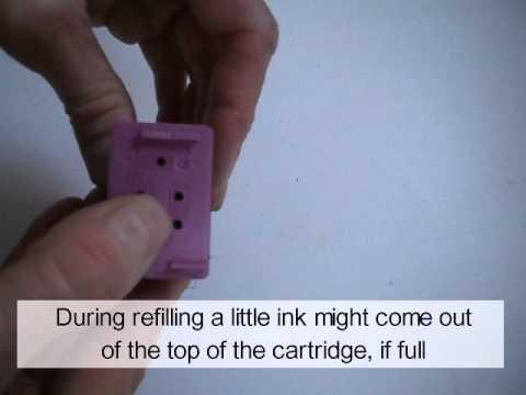 HP Color Inkjet Cartridges: Refill Instructions