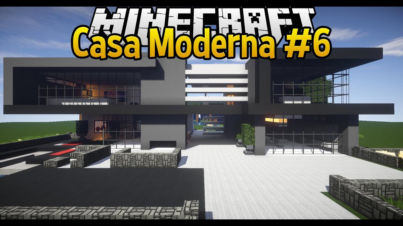 Come costruire una casa moderna in minecraft 6 youtube for Casa moderna total white