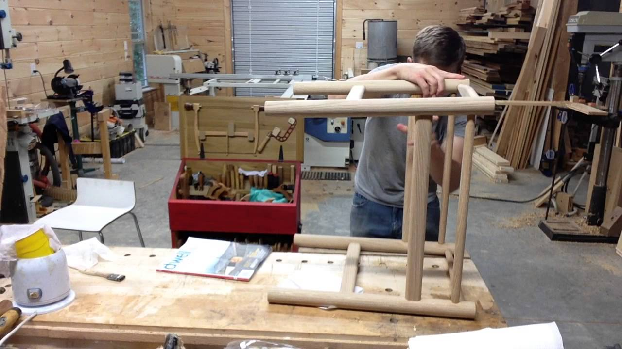 Sample Of Glue Up Of A Chair Stool Assembly Youtube