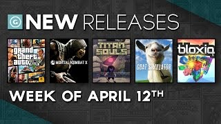 Mortal Kombat X, Grand Theft Auto V for PC, Titan Souls, Goats - New Releases(This week we get Mortal Kombat X, Grand Theft Auto 5 for PC, Titan Souls, Goat Simulator and Bloxiq, see ya later, sun. Stay up to date with GameSpot's New ..., 2015-04-12T16:00:01.000Z)