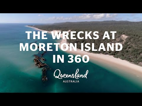 Tangalooma Wrecks, Moreton Island, Queensland in 360