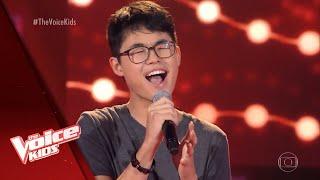 Pedro Ogata canta 'Chandelier' nas Audições às Cegas - The Voice Kids Brasil   5ª Temporada