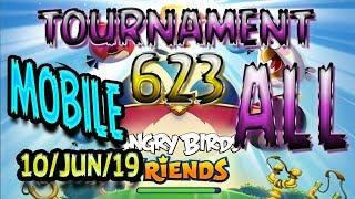 Angry Birds Friends All Levels MOBILE Tournament 623 Highscore POWER-UP walkthrough #AngryBirds