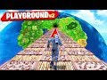 *NEW* 1v1v1v1 DEATH RACE GAMEMODE in FORTNITE! (PLAYGROUND MODE V2)