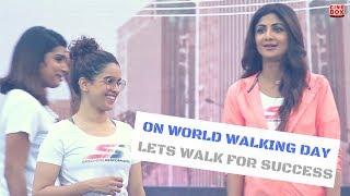 Shilpa Shetty, Sanya Malhotra & Rahul Bose At Flag Off 1st Edition of Walkathon
