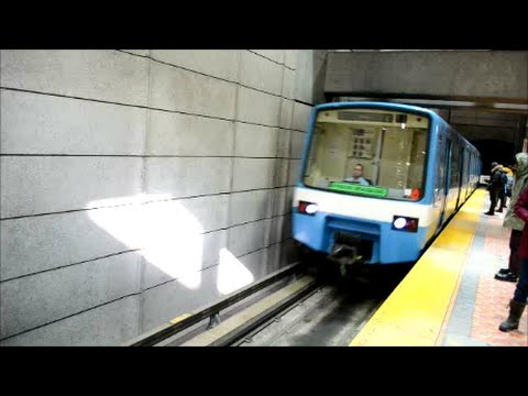 MONTREAL STM METRO TRAINS AT VARIOUS STATIONS