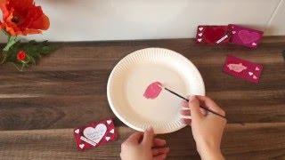 DIY Gutschein Karte / Rubbellos basteln, für Valentinstag, Geburtstag, Muttertag