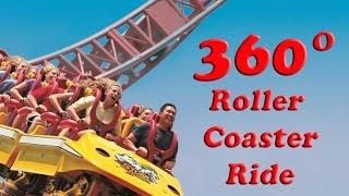extreme storm runner 360 vr roller coaster ride 4k