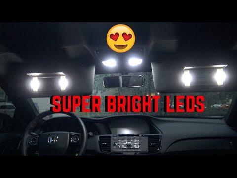 2017 Honda Accord Sport Limited Edition Interior LED lights Installed