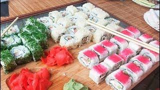 Как приготовить настоящие суши/роллы дома - Филадельфия, Калифорния (Sushi Recipe)