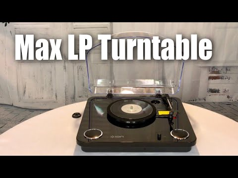 ION Audio Max LP 3-Speed Belt Drive Turntable Record Play with Built-In Speakers review