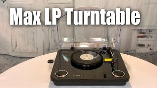 ION Audio Max LP 3 Speed Belt Drive Turntable Record Play with Built In Speakers review