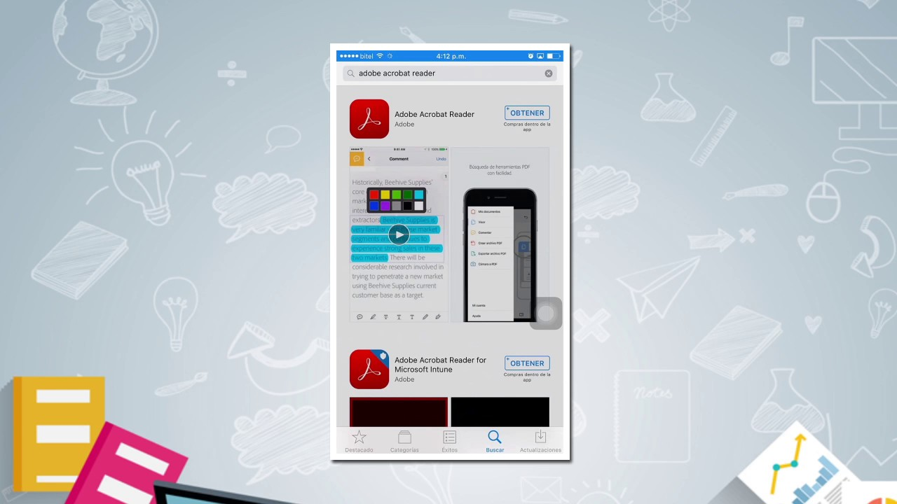 Pdf iphone adobe for