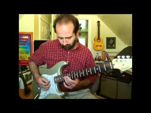 John McCoy on Guitar Jamming some Blues in E, McCoy Music LLC Skype Guitar Lessons On Webcam