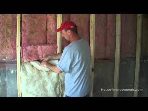 How To Install Fiberglass Batt Insulation & Vapor Barrier