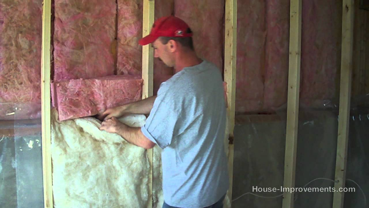 How To Install Fiberglass Batt Insulation U0026 Vapor Barrier   YouTube