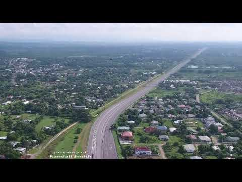 DJI phantom 4 drone fly over new harbour village old harbour Jamaica