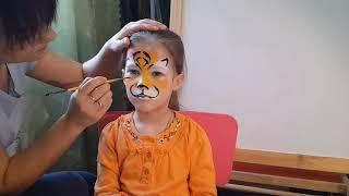 Аквагрим, рисуем тигра. Face painting, tiger. It's simple.
