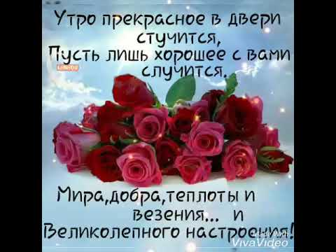 С добрым утром!🌞 Пусть в душе цветут розы! 🌹💞🌹💞🌹