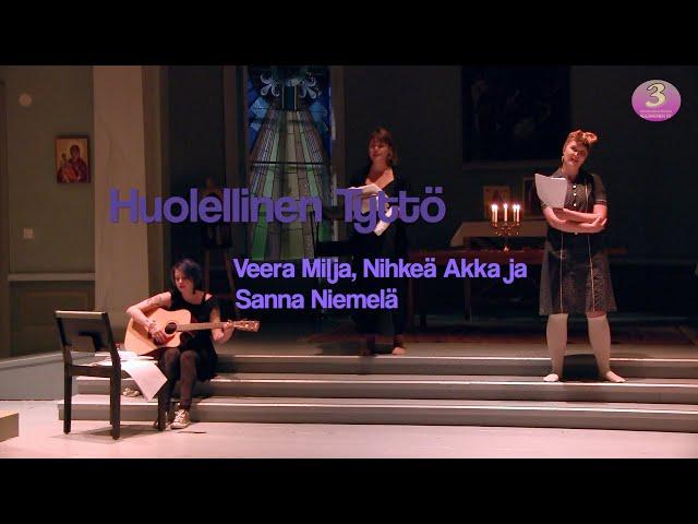 Savonlinnan Taiteiden yön runo-esitys: Huolellinen tyttö