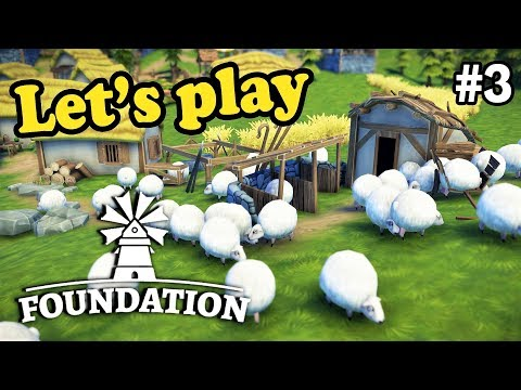 Sheep cuteness overload! | Foundation | Ep. 3 | Medieval grid-less City Building Simulation Game
