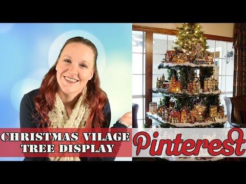 DIY Christmas! -  Village Tree - Pinterest
