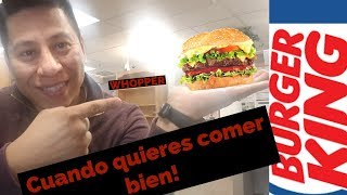 Come bien en Burger King