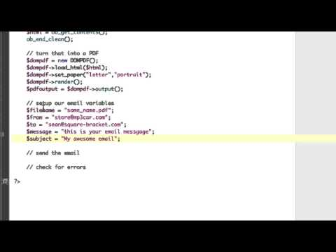 PHP Gmail SMTP With Attachment and HTML to PDF - YouTube