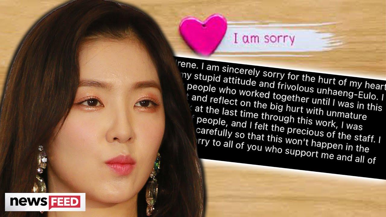 KPop Star Irene Of Red Velvet Issues APOLOGY For Gross Behavior!